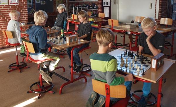 Gruppe F spillerne i aktion. Fra venstre