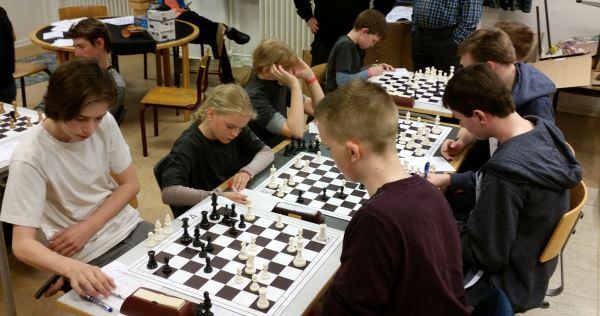 A-gruppen mod Nr. Åby. Kampen endte med et nederlagt på 4½-½.